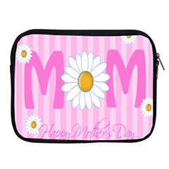 Valentine Happy Mothers Day Pink Heart Love Sunflower Flower Apple Ipad 2/3/4 Zipper Cases by Mariart