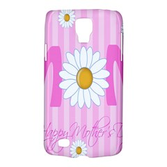 Valentine Happy Mothers Day Pink Heart Love Sunflower Flower Galaxy S4 Active by Mariart