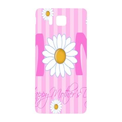 Valentine Happy Mothers Day Pink Heart Love Sunflower Flower Samsung Galaxy Alpha Hardshell Back Case by Mariart