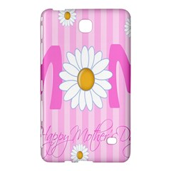 Valentine Happy Mothers Day Pink Heart Love Sunflower Flower Samsung Galaxy Tab 4 (8 ) Hardshell Case  by Mariart