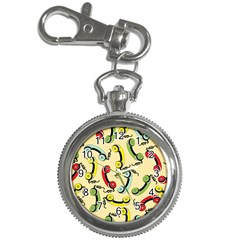 Telephone Cable Green Nyellow Red Blue Key Chain Watches by Mariart