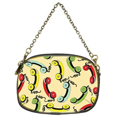 Telephone Cable Green Nyellow Red Blue Chain Purses (one Side)  by Mariart