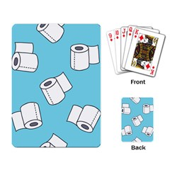 Roller Tissue White Blue Restroom Playing Card by Mariart
