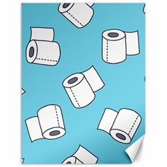 Roller Tissue White Blue Restroom Canvas 12  X 16   by Mariart