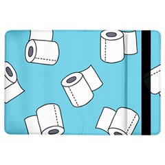 Roller Tissue White Blue Restroom Ipad Air Flip by Mariart