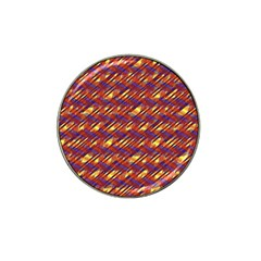 Linje Chevron Blue Yellow Brown Hat Clip Ball Marker (10 Pack) by Mariart