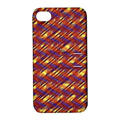 Linje Chevron Blue Yellow Brown Apple Iphone 4/4s Hardshell Case With Stand by Mariart