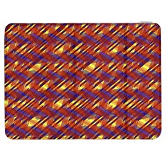 Linje Chevron Blue Yellow Brown Samsung Galaxy Tab 7  P1000 Flip Case by Mariart
