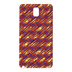 Linje Chevron Blue Yellow Brown Samsung Galaxy Note 3 N9005 Hardshell Back Case by Mariart
