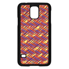 Linje Chevron Blue Yellow Brown Samsung Galaxy S5 Case (black) by Mariart