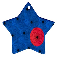 Pink Umbrella Red Blue Ornament (star) by Mariart
