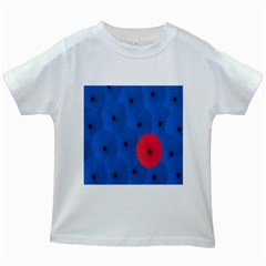 Pink Umbrella Red Blue Kids White T Shirts