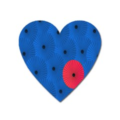 Pink Umbrella Red Blue Heart Magnet by Mariart