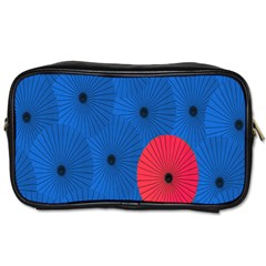 Pink Umbrella Red Blue Toiletries Bags