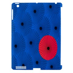 Pink Umbrella Red Blue Apple Ipad 3/4 Hardshell Case (compatible With Smart Cover) by Mariart