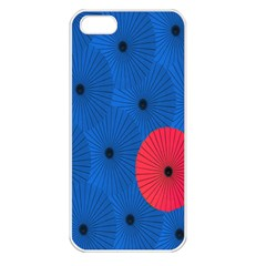 Pink Umbrella Red Blue Apple Iphone 5 Seamless Case (white) by Mariart