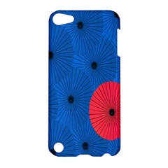 Pink Umbrella Red Blue Apple Ipod Touch 5 Hardshell Case by Mariart