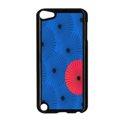 Pink Umbrella Red Blue Apple Ipod Touch 5 Case (black) by Mariart