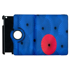 Pink Umbrella Red Blue Apple Ipad 3/4 Flip 360 Case by Mariart
