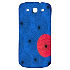 Pink Umbrella Red Blue Samsung Galaxy S3 S Iii Classic Hardshell Back Case by Mariart