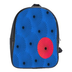 Pink Umbrella Red Blue School Bags (xl)  by Mariart
