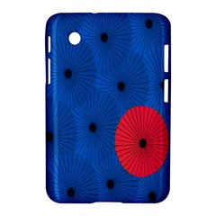 Pink Umbrella Red Blue Samsung Galaxy Tab 2 (7 ) P3100 Hardshell Case  by Mariart