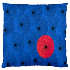 Pink Umbrella Red Blue Standard Flano Cushion Case (one Side)