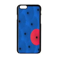 Pink Umbrella Red Blue Apple Iphone 6/6s Black Enamel Case by Mariart