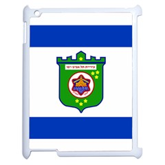 Flag Of Tel Aviv  Apple Ipad 2 Case (white) by abbeyz71