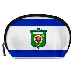Flag Of Tel Aviv  Accessory Pouches (large)  by abbeyz71