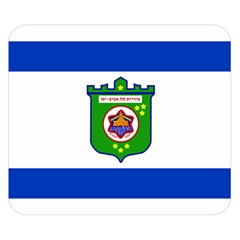 Flag Of Tel Aviv  Double Sided Flano Blanket (small)  by abbeyz71