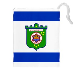 Flag Of Tel Aviv  Drawstring Pouches (xxl) by abbeyz71