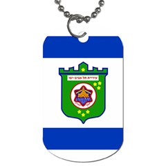 Flag Of Tel Aviv  Dog Tag (two Sides)