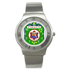 Tel Aviv Coat Of Arms  Stainless Steel Watch by abbeyz71