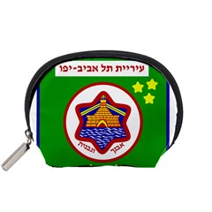 Tel Aviv Coat Of Arms  Accessory Pouches (small)  by abbeyz71