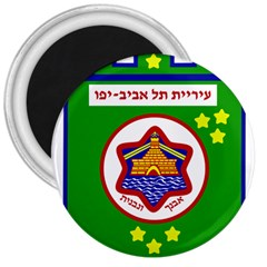 Tel Aviv Coat Of Arms  3  Magnets by abbeyz71