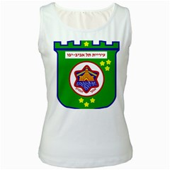 Tel Aviv Coat Of Arms  Women s White Tank Top by abbeyz71