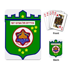 Tel Aviv Coat Of Arms  Playing Card by abbeyz71
