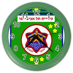 Tel Aviv Coat Of Arms  Color Wall Clocks by abbeyz71