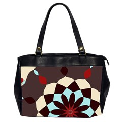 Red And Black Flower Pattern Office Handbags (2 Sides)  by digitaldivadesigns