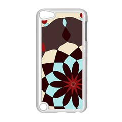 Red And Black Flower Pattern Apple Ipod Touch 5 Case (white) by digitaldivadesigns