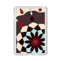 Red And Black Flower Pattern Ipad Mini 2 Enamel Coated Cases by digitaldivadesigns