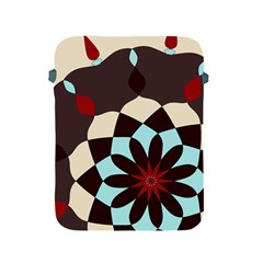 Red And Black Flower Pattern Apple Ipad 2/3/4 Protective Soft Cases by digitaldivadesigns