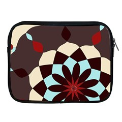 Red And Black Flower Pattern Apple Ipad 2/3/4 Zipper Cases by digitaldivadesigns