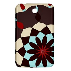 Red And Black Flower Pattern Samsung Galaxy Tab 3 (7 ) P3200 Hardshell Case  by digitaldivadesigns