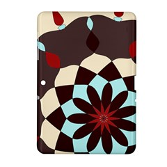 Red And Black Flower Pattern Samsung Galaxy Tab 2 (10 1 ) P5100 Hardshell Case  by digitaldivadesigns