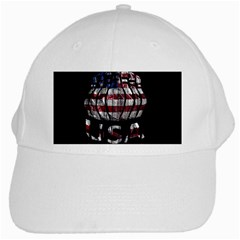 Usa Bowling  White Cap by Valentinaart