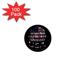 Usa Bowling  1  Mini Buttons (100 Pack)  by Valentinaart