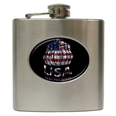 Usa Bowling  Hip Flask (6 Oz) by Valentinaart