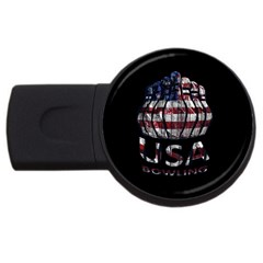 Usa Bowling  Usb Flash Drive Round (4 Gb) by Valentinaart
